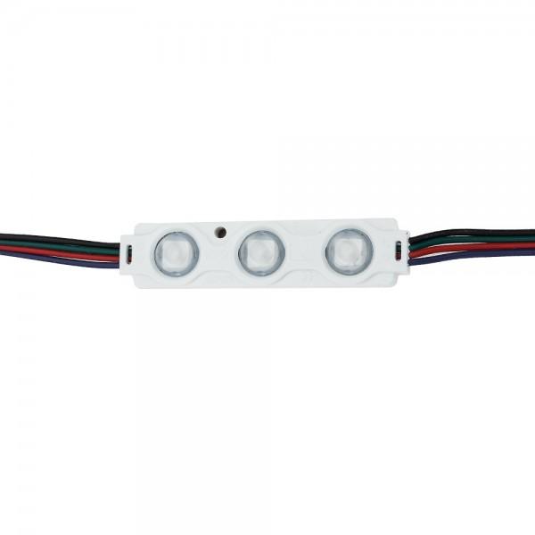 0.72W LED МОДУЛ С ЛУПА 3 5050 160° DC12V IP65 RGB 70*16*8mm