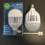 LED Крушка 8W+2W против комари и насекоми 4500К - неутрална светлина