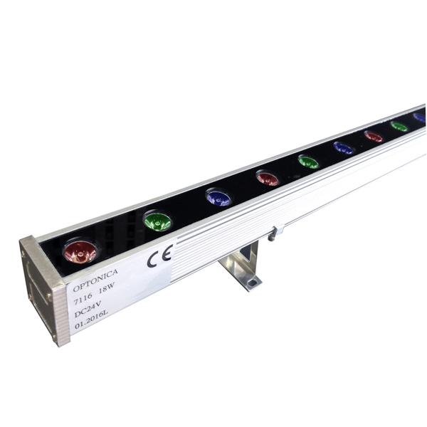 LED Фасаден осветител RGB 1м 18W/24V - IP65 EPISTAR