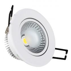 5W LED Луна с разстлан диод кръгла, насочваща се, бял корпус