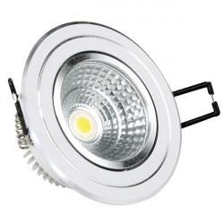 5W LED Луна с разстлан диод кръгла, насочваща се, бял корпус с алуминий