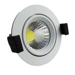 8W LED Луна с разстлан диод кръгла, насочваща се, бял корпус