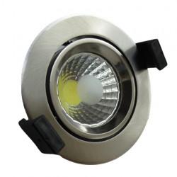 8W LED Луна с разстлан диод кръгла, насочваща се, инокс