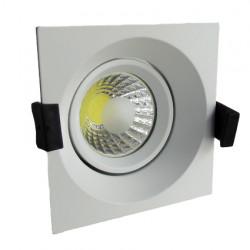 8W LED Луна с разстлан диод квадратна, насочваща се - бял корпус