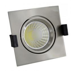 8W LED Луна с разстлан диод квадратна, насочваща се - инокс