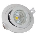 12W LED Луна с разстлан диод кръгла, регулируема за вграждане
