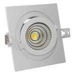 12W LED Луна с разстлан диод квадратна, регулируема, за вграждане