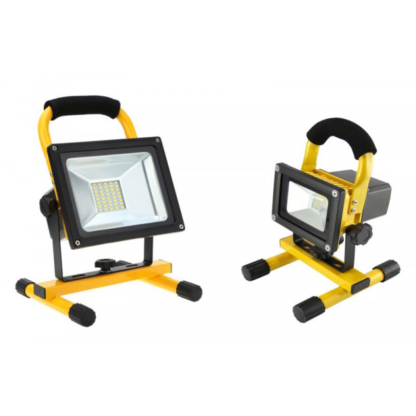20W LED portable SMD Прожектор IP65 - Акумулаторен, неутрално бяла светлина