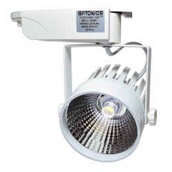 LED Интериорен Прожектор 12W COB Бяло тяло