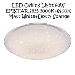 LED Ceiling Light 60W EPISTAR 2835 3000K+6400K Matt White+Dotty Sparkle
