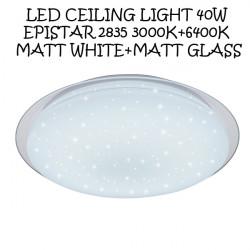 LED Celing Light 40W EPISTAR 2835 3000K+6400K Matt White